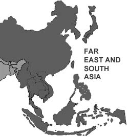 Far East and South Asia Map